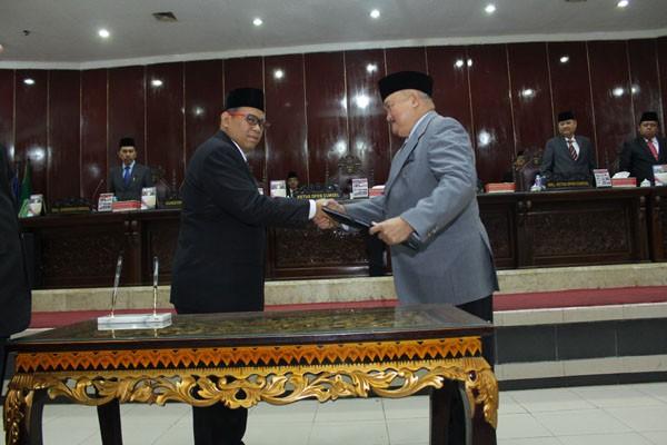Gubernur sampaikan enam raperda ke DPRD Sumsel