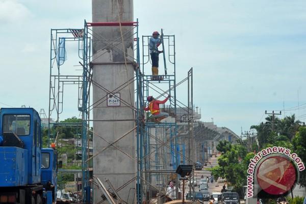Pembangunan fondasi LRT Palembang selesai Juli 2017