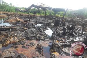 Aparat keamanan tertibkan penambangan sumur minyak ilegal