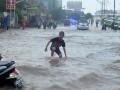 Banjir di Jalanan Kota Palembang