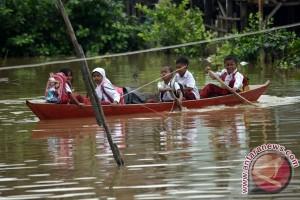 Sejumlah desa kecamatan Lubuk Batang terendam banjir