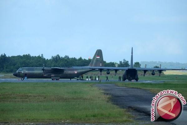 Pesawat Hercules TNI jatuh di Wamena Papua