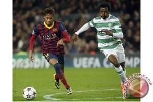 Neymar dapat kartu merah saat Barcelona ditaklukkan malaga