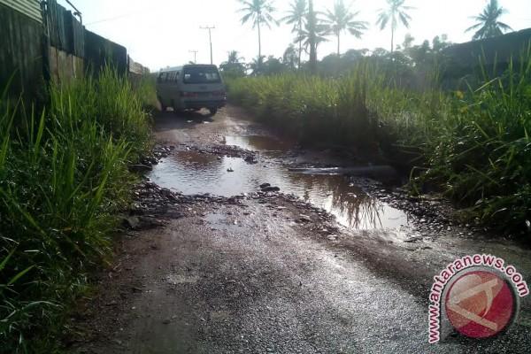 Warga keluhkan jalan Talang Jering Sako rusak