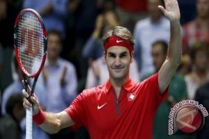 Federer taklukkan Zverev untuk mencapai perempat final Halle