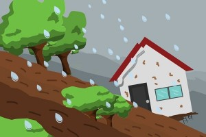 17 rumah terancam ambruk terkena longsor