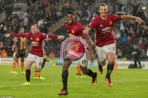United menang 2-0 atas tamunya Leicester