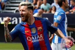 Dua gol Messi bawa Barca kalahkan Las Palmas