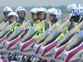 Sejumlah Polisi Wanita (Polwan) Berkendaraan Motor yang akan mengawal tamu VIP pada simulasi pengawalan VIP dan VVIP pada penutupan Safety Riding and Driving Escape VVIP/VIP Course di Pangkalan Udara Sri Mulyono Herlambang Palembang, Sumsel, Jumat (17/3). Sebanyak 148 profesional petugas dari Polri, TNI, Kejaksaan, DPRD dan Daerah tingkat II turut serta mengikuti kursus singkat yang bertujuan meningkatkan kemampuan pengawalan bagi VIP jelang Asian Games 2018 mendatang. (Antarasumsel.com/Feny Selly/Ag/17)