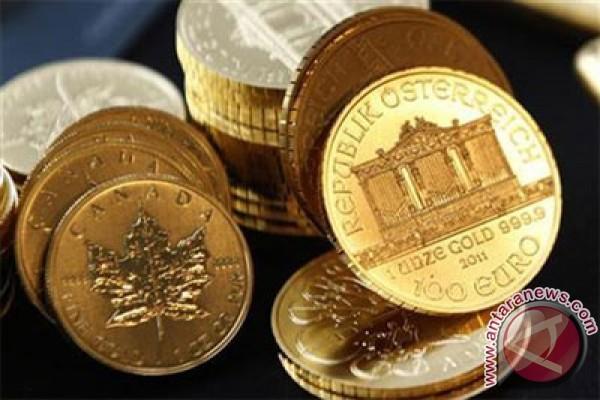 Emas berjangka turun karena ekuitas AS sebagian besar menguat