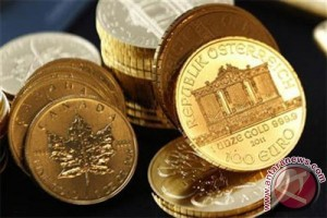 Emas berjangka turun akibat ketegangan geopolitik