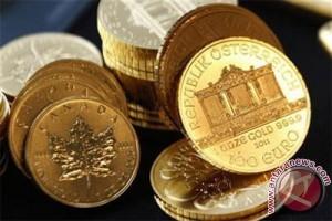 Emas berjangka naik didorong pelemahan Dolar AS