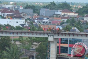 Wapres tinjau jalur LRT Bandara-Jakabaring