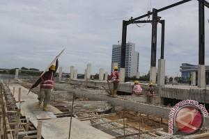 Proses pembangunan RSUD Baturaja jalur kendaraan dialihkan