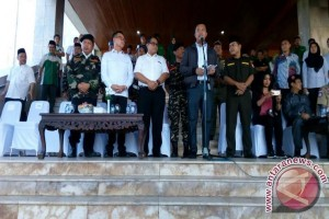 Ketua DPRD Sumsel bersama Menpora lepas seribu Banser