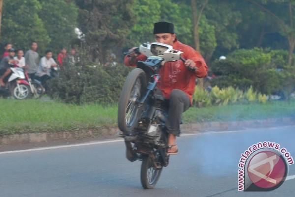 Aksi balap liar di Palembang subuh Ramadhan
