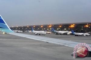 Penerbangan di bandara Pekanbaru terganggu banjir