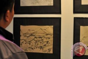 Lukisan pelajar Aceh dipamerkan di lokasi peringatan tsunami