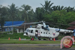 Helikopter pemadam kebakaran tiba di Jambi Rabu