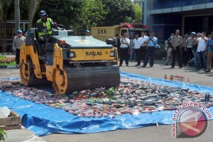 Pemusnahan Miras Jelang Ramadhan