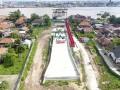Foto areal pembangunan Jembatan Musi IV di Palembang, Sumatra Selatan, Senin (5/6). Pembangunan Jembatan Musi IV yang menjadi sarana prioritas dan penunjang transportasi Asian Games 2018 ini telah mencapai 45 persen dan ditargetkan rampung sebelum pelaksanaan Asian Games 2018. (Antarasumsel.com/Nova Wahyudi/dol/17)