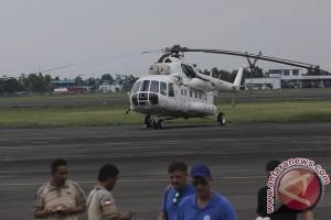 Helikopter Pemadam Karhutla Tiba Di Palembang