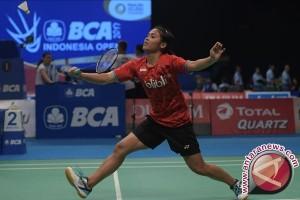 Gregoria tumbang tunggal putri Indonesia terbuka habis