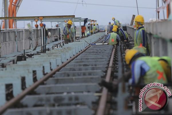 Pembangunan LRT Palembang terus dikebut