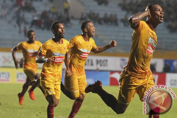 Sriwijaya FC ditahan imbang Persipura 2-2