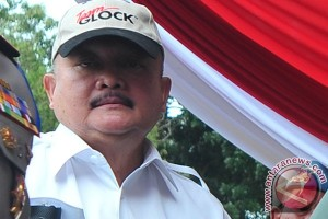 Alex Noerdin tinjau lokasi penyambutan Presiden Jokowi