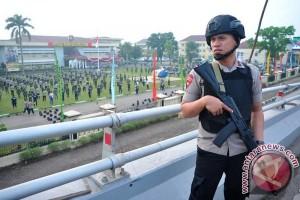 Latihan Bela Diri Gabungan Polri dan TNI
