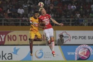 Sriwijaya FC ditahan imbang Bali United 2-2