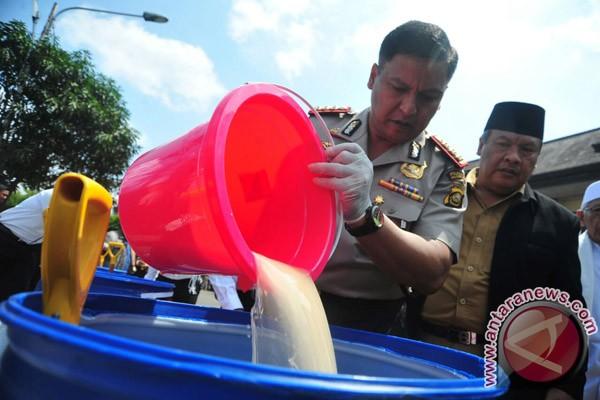Polresta Palembang musnahkan narkoba hasil tangkapan