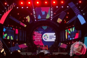"Ribuan warga Palembang saksikan ""countdown"" Asian Games"