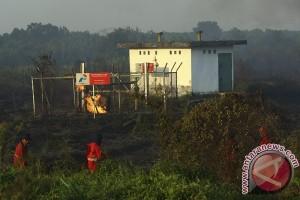 Stasiun Pengaman Pertamina Gas terbakar