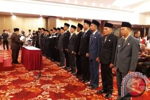 17 kepala sekretariat Panwas Kabupaten/Kota Sumsel dilantik
