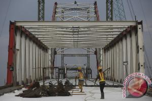 Jembatan Musi VI tahap penyelesaian
