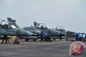 Skadron khatulistiwa selesai latihan di Palembang