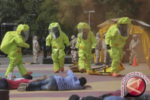 Simulasi ancaman teroris di Jakabaring Palembang