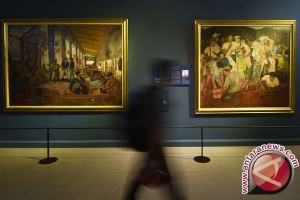 Seniman Borobudur sambut lebaran dengan pameran lukisan