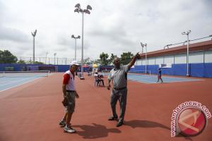 Kesiapan Arena Tenis Asian games