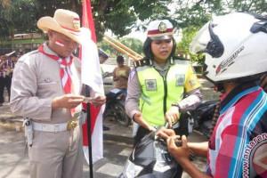 Polisi sosialisasikan keselamatan berlalulintas di sekolah