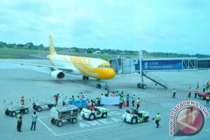 Selama April 2018, Bandara SMB II didarati 1.918 pesawat
