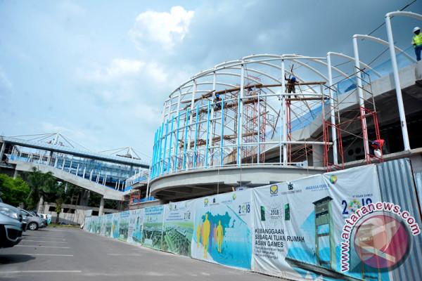 Pembangunan Sky Bridge LRT di Bandara SMB