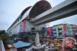 Stasiun LRT Polresta Palembang segera beroperasi