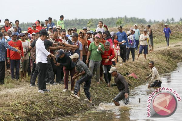 Presiden Tinjau Desa Padat Karya Tunai Banyuasin