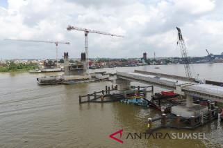 Progres pembangunan jembatan Musi IV lambat