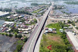 Pembangunan Jembatan Layang Keramasan Rampung