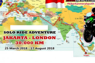 Stephen tempuh Jakarta-London naik motor