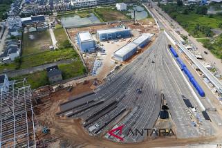 Kereta LRT Sudah Berada Di Depo Jakabaring